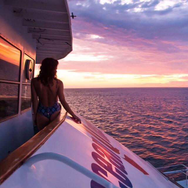 OceanQuest Great Barrier Reef Cairns Liveaboard Sunset