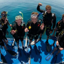 Dive Students on the Great Barrier Reef with Divers Den Cairns