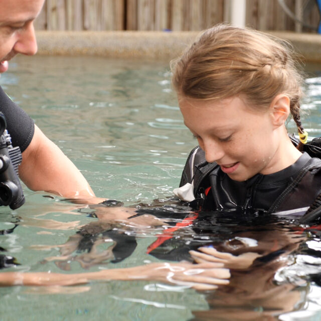 Divers Den Scuba Kids pool instructor