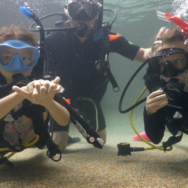 Kids learn to scuba dive with Divers Den Scuba Kids