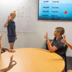 Scuba Diver Course Classroom and Students