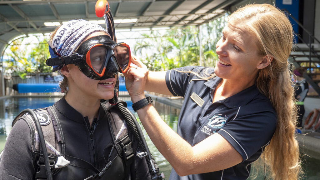 Learning to Scuba Dive at Divers Den, Cairns